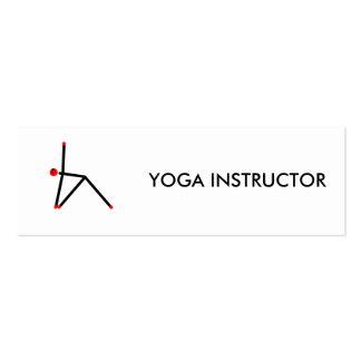 Stick figure of triangle yoga pose. mini business card