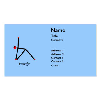 Stick figure of triangle yoga pose with Sanskrit Business Card