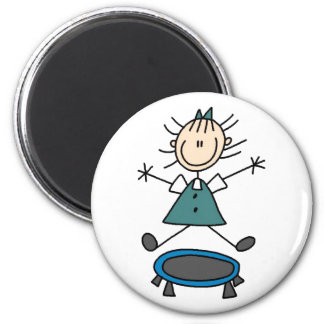 Stick Figure On Trampoline Magnet