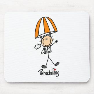 Stick Figure Parachuting Mousepad