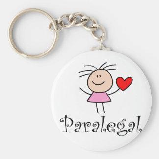 Stick Figure Paralegal Basic Round Button Keychain
