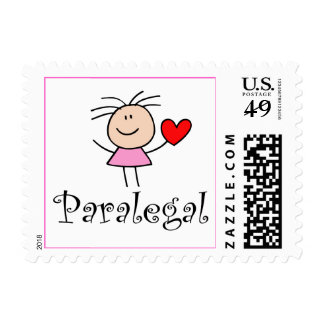 Stick Figure Paralegal Postage