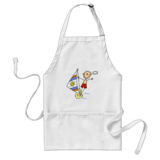 Stick Figure Parasailing Tshirts and Gifts Adult Apron