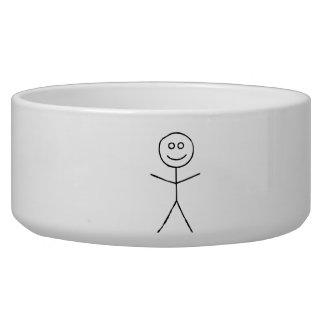 Stick Figure Dog Food Bowl