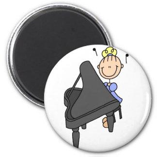 Stick Figure Piano Magnet