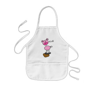 Stick Figure Pig Tshirts and Gifts Kids' Apron