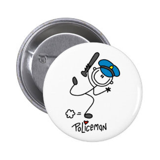 Stick Figure Police Officer Button