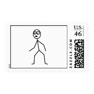 Stick figure postage stamp