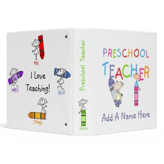 Stick Figure Preschool Teacher Binder