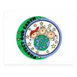 Stick Figure Protect Our Earth T-shirts and Gifts Postcard