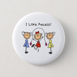 Stick Figure Recess Button
