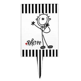 Stick Figure Referee T-shirts and Gifts Cake Pick