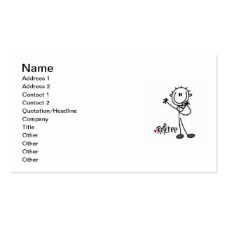 Stick Figure Referee T-shirts and Gifts Double-Sided Standard Business Cards (Pack Of 100)