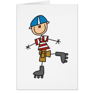 Stick Figure Roller Skating Card