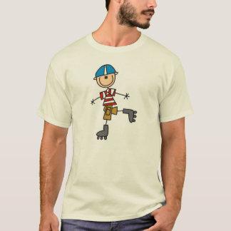 Stick Figure Roller Skating T-Shirt