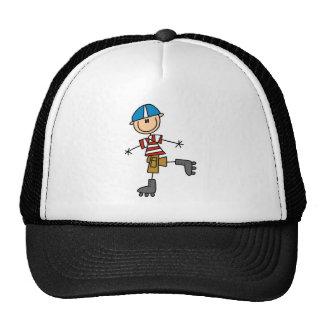 Stick Figure Roller Skating Trucker Hat