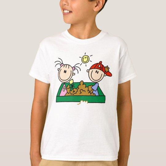 Stick Figure Sandbox Fun T-Shirt