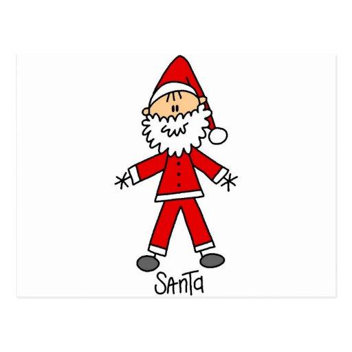 Stick Figure Santa Tshirts and Gifts Postcard