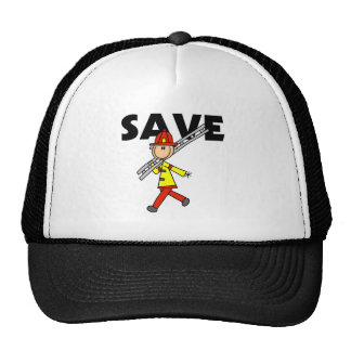 Stick Figure Save Baseball Cap Trucker Hat