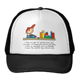 Stick Figure School Poem Baseball Cap Trucker Hat
