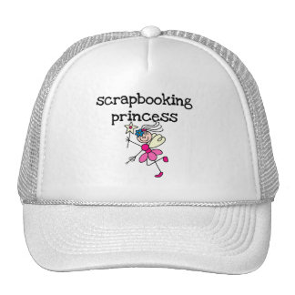 Stick Figure Scrapbook Princess Tshirts and Gifts Mesh Hats