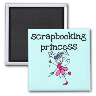 Stick Figure Scrapbook Princess Tshirts and Gifts Refrigerator Magnet