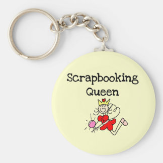 Stick Figure Scrapbook Queen Tshirts and Gifts Key Chain