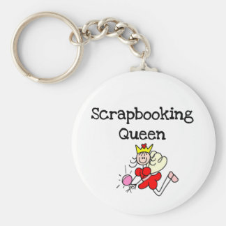 Stick Figure Scrapbook Queen Tshirts and Gifts Keychain