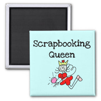 Stick Figure Scrapbook Queen Tshirts and Gifts Refrigerator Magnet