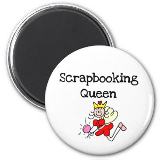 Stick Figure Scrapbook Queen Tshirts and Gifts Refrigerator Magnets