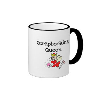 Stick Figure Scrapbook Queen Tshirts and Gifts Ringer Mug