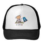 Stick Figure Sew Baseball Cap Trucker Hat
