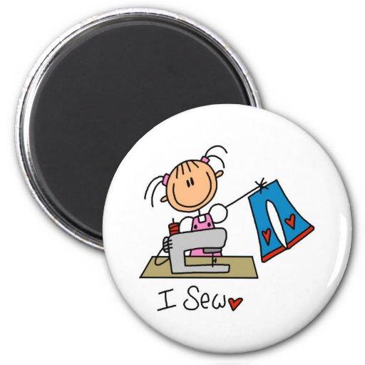 Stick Figure Sew Magnet