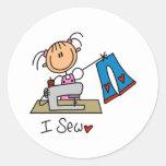 Stick Figure Sew Stickers