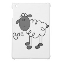 Stick Figure Sheep and Gifts iPad Mini Cover