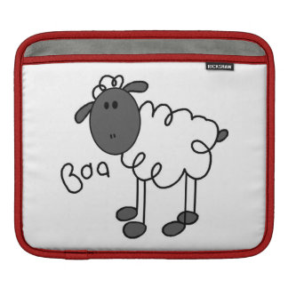 Stick Figure Sheep T-shirts and Gifts iPad Sleeves