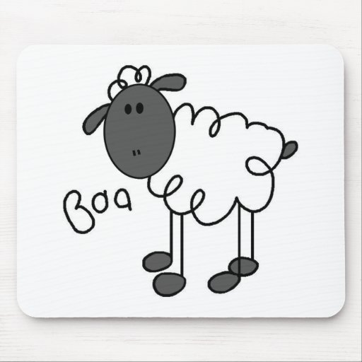 Stick Figure Sheep T-shirts and Gifts Mouse Pad