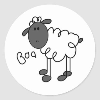 Stick Figure Sheep T-shirts and Gifts Stickers