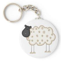 Stick Figure Sheep tshirts and Gifts Keychain