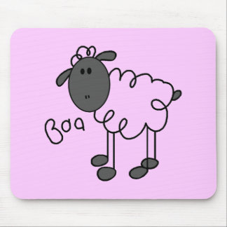 Stick Figure Sheep Tshirts and Gifts Mouse Pad