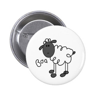 Stick Figure Sheep Tshirts and Gifts Pinback Button