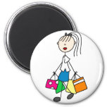 Stick Figure Shopping Magnet Magnets