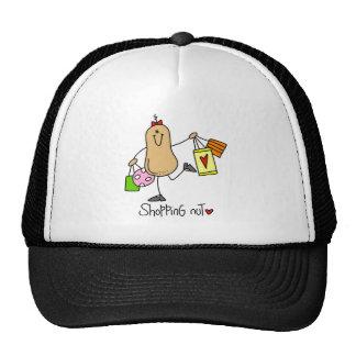 Stick Figure Shopping Nut Baseball Cap Trucker Hat