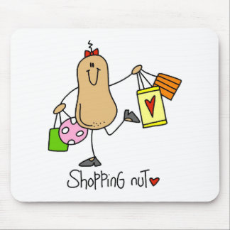 Stick Figure Shopping Nut Mousepad