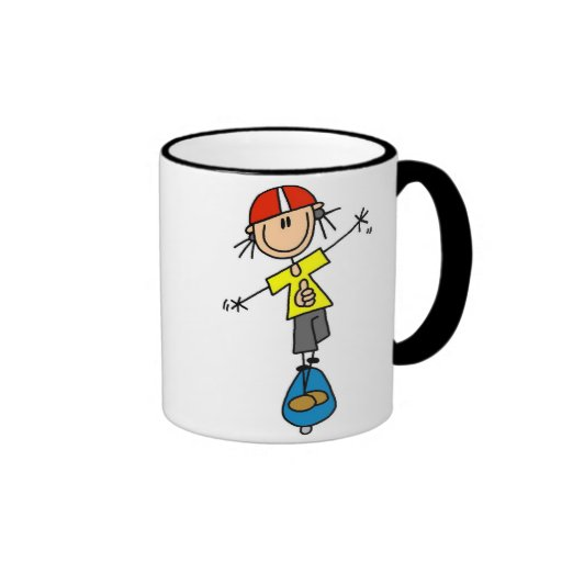 Stick Figure Skateboarder Mug