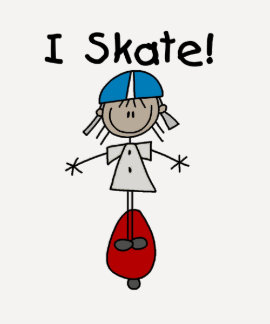 Stick Figure Skateboarder Tshirts and Gifts