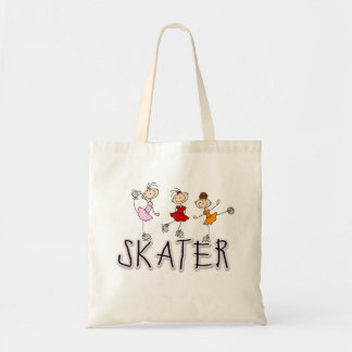 Stick Figure Skater Tshirts and Gifts Budget Tote Bag