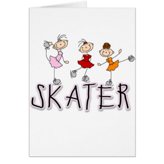 Stick Figure Skater Tshirts and Gifts Cards