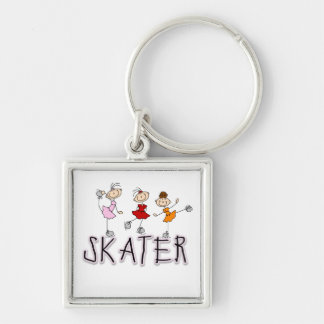 Stick Figure Skater Tshirts and Gifts Keychain