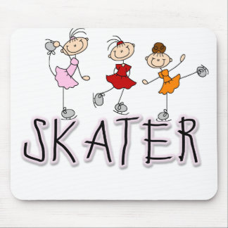 Stick Figure Skater Tshirts and Gifts Mouse Pad
